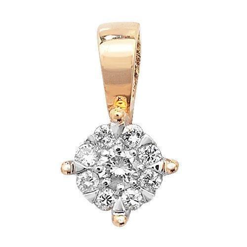 Pendentif diamant brillant Gamme 9ct W I1-20,08CT