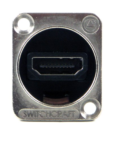Eh Panel Mount Connector - Switchcraft EHHDM12PKG HDMI Feedthru, Bagged with 4-40 Mounting Screws, Nickel Finish