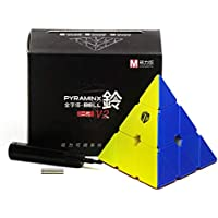 CuberSpeed X Man Bell V2 Pyraminx Stickerless Magnetic Speed Cube Qiyi X Man Bell Magnetic Pyraminx V2 Cube Puzzle