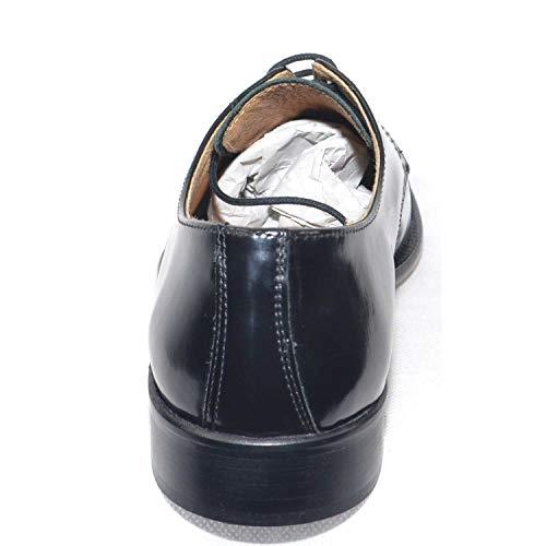 Made Genuine Inglese Classico Uomo Lucida Fondo Pelle Francesina Italy Vera Scarpe Nera 015 in Leather Cerimonia w8E4q76x1