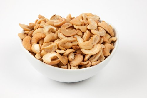 Roasted Cashew Halves (10 Pound Case) (Salted) by Superior Nut Company