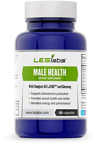 Homme de santé, la testostérone Support & Supplément de santé sexuelle par Les Labs (60 Vegetarian Capsules avec LJ100 Tongkat Ali, la racine de Maca, ginseng Panax, racine d'ortie et L-arginine)