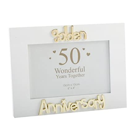 50th Golden Wedding Anniversary Photo Frame Gift Amazoncouk