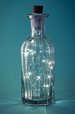 Corcho Luz Cadena 1 m Alambre de cobre 20 LED Lámparas para botellas de vino,