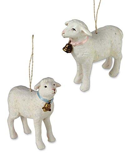 Bethany Lowe Easter Spring Lamb Ornament Set of 2 (Ornaments Lamb)