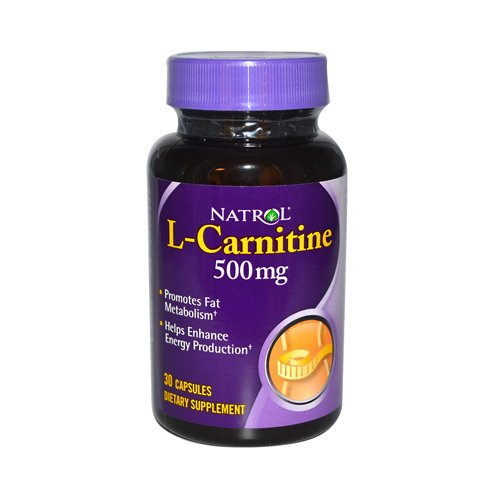 2 Packs of Natrol L-carnitine - 500 Mg - 30 Capsules