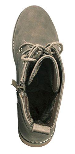 Elara Damen Stiefeletten | Bequeme Biker Boots | Lederoptik Schnürstiefeletten Khaki Kanada x7deZ