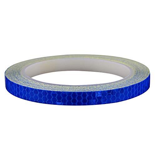 DFNABCD - Pegatinas Reflectantes para Coche, Motocicleta y Otras Necesidades de Seguridad (1 Unidad), Azul, 8M