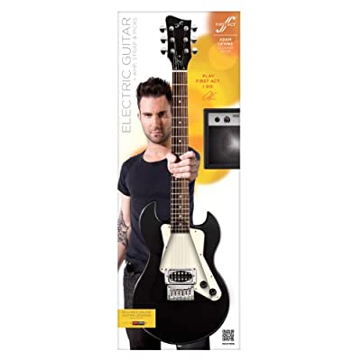 Adam Levine Solid-Body Electric Guitar by First Act – Black (AL223)