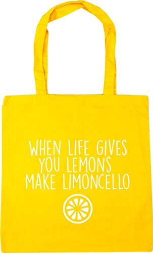 Gives x38cm 10 Limoncello Yellow Make You Gym When Shopping HippoWarehouse Tote Lemons Bag Life litres Beach 42cm FO6qE1nA
