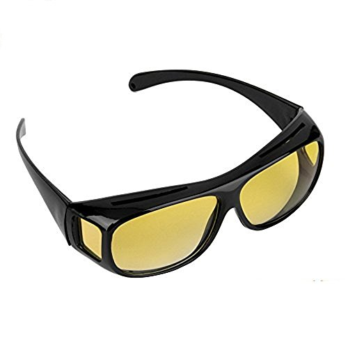 Night Vision Glasses Driving Polarized Black/Yellow Wrap Around Windproof Prescription Eyewear Unisex Sunglasses UV400 Protective Protection Glasses Goggles US Stock by Lucky Shop (Wraparound Prescription Sunglasses Problems)