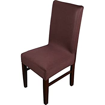 knit spandex fabric stretch dining room chair slipcovers set of 4 brown