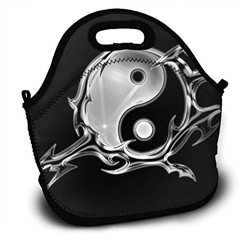 Lunch Bag Yin Yang Darts Tote Reusable Insulated Lunchbox, Shoulder Strap with Zipper for Kids, Boys, Girls, Women and Men ()