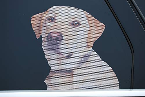 Doggie in the Window car and truck window dog decal - Yellow Labrador Retriever
