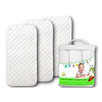 Premium Changing Pad Liners | Waterproof Antibacterial & Hypoallergenic | Mac...