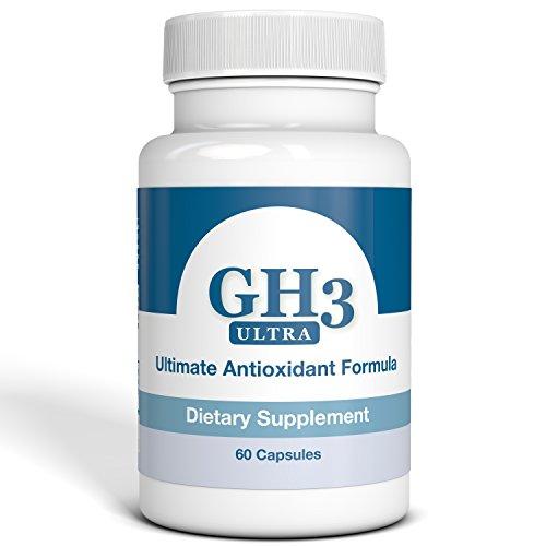 G-H3 ULTRA, formule antioxydante ultime - nouveau, amélioration complexe anti-âge de H3 (PABA, DMAE, Ginkgo Biloba, R-acide Alpha-lipoïque, Coenzyme Q10, acétyl L-Carnitine, vitamine B6) - 60 Caps