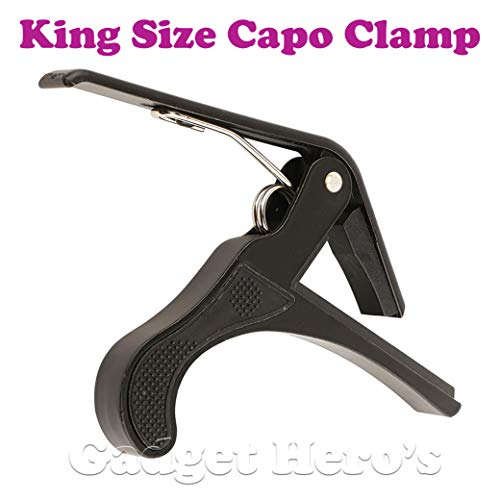 Gadget Hero's King Quick Change Capo Clamp For Electric & Acoustic Guitar Tirgger Key