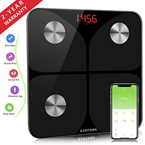 Bathroom Scales Weighing Body Fat - Smart Bluetooth Scales, High Precision Measuring...