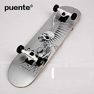 GYFY Tabla de Skate Doble Curva Baile Tablero Blues Calle más Arce Cuatro Ruedas Skateboard Adolescente