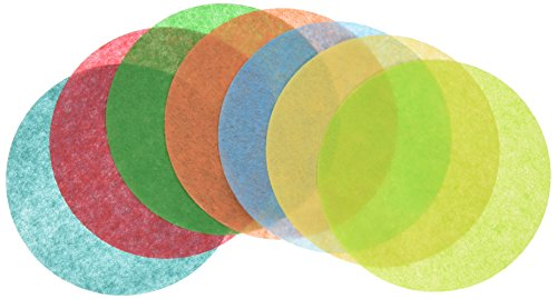 Roylco Pre-Cut Tissue Paper Circles, 4 Inch, Assorted Colors, Pack of 480