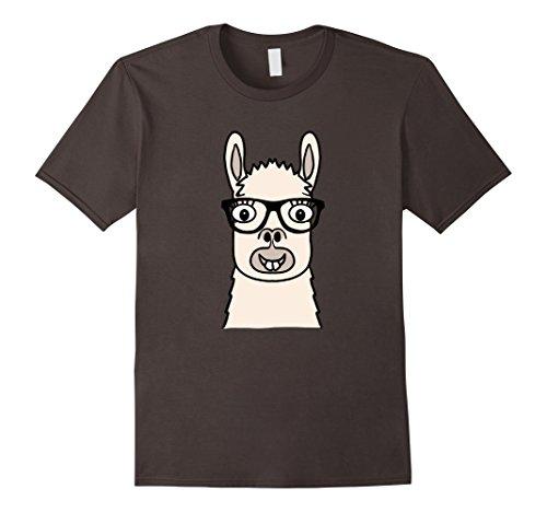 mens-llama-nerd-with-glasses-emoji-t-shirt-geek-emoticon-tee-2xl-asphalt