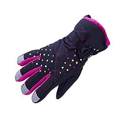 SUNVP Women's Ski Gloves Warm Waterproof Winter Outdoor Snow Snowboard Athletic Gloves with Thinsulate