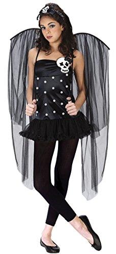 FunWorld Junior's Teen Skull Fairy, Black, Junior 0-9 Costume - Discount Haloween Costumes