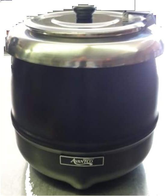 Avantco W800 11 Qt Stainless Steel Round Countertop Food   Soup Kettle Warmer