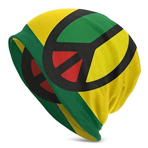Yingzsal Reggae Culture Peace Symbol Caribbean Country Flag Design Americas Rasta Culture Christmas Fashion Warm Unisex Beanies hat Cap