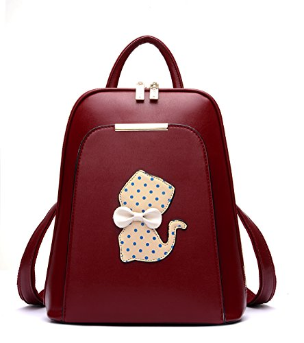 - Faux Leather Organizer Backpack Purse for Girls Satchel Daypack School Book Bag for College