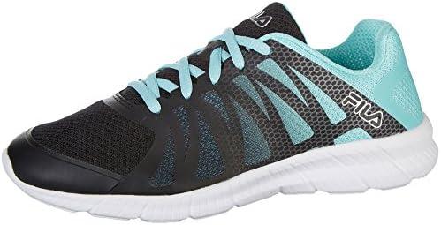 Fila Women s Memory Finition Running Sneakers, Black Mesh, Rubber, 7 M