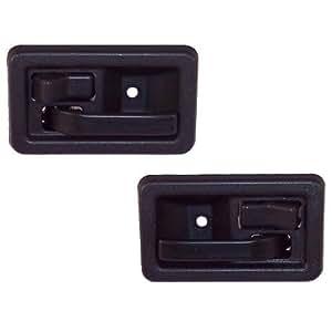 2 inside door handles front or rear left or right driver or passenger black. Black Bedroom Furniture Sets. Home Design Ideas