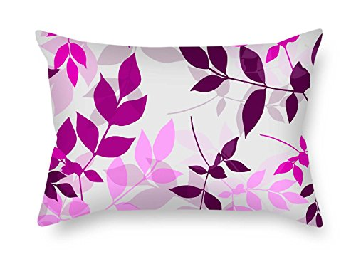 (Pillowcover of Leaf 12 X 20 Inches / 30 by 50 cm Best Fit for Gf Seat Wife Kids Girls Dining Room Study Room Both Sides)