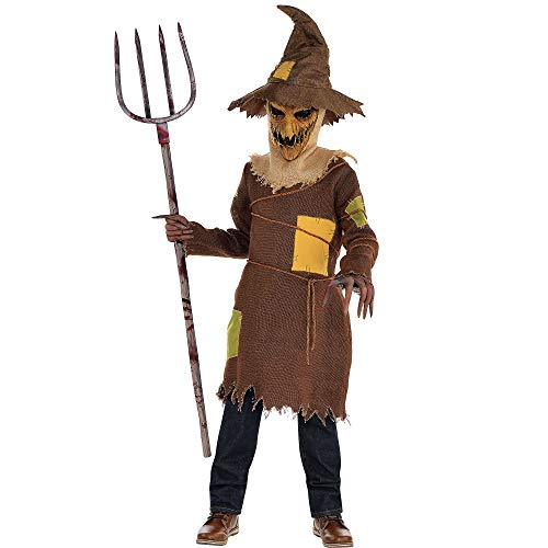 Creepy Scarecrow Costume (AMSCAN Scary Scarecrow Halloween Costume for Boys, Medium, with Included)