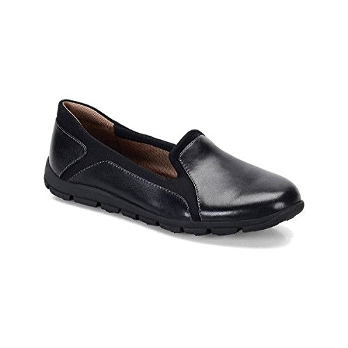 Comfortiva Womens Cantrall Leather Closed Toe Loafers, Black, Size 7.0
