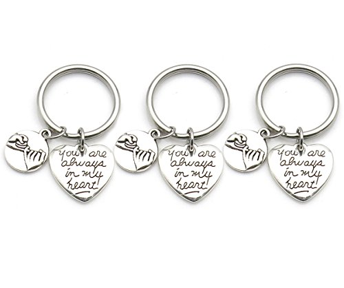 IDLAN 3 Pinky Promise Pinky Swear Infinity Best Friend Sisters Necklaces BFF You are Always in My Heart (Keychain)