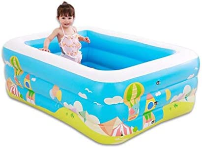 POOooo Piscina Hinchable Rectangular, for niños, Adultos, Familia ...