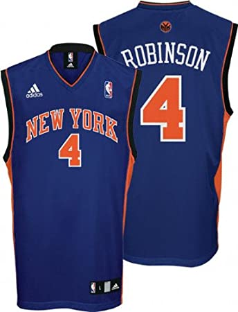 Amazon.com : adidas Nate Robinson Youth Jersey Blue Replica #4 New ...