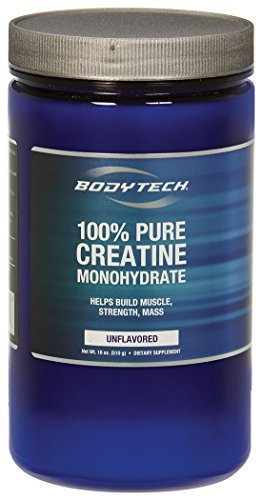 BodyTech 100 Pure Creatine Monohydrate Unflavored 5 GM/Serving Supports Muscle Strength Mass (18 Ounce Powder) by BODYTECH