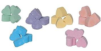 60 x mini bath bomb hearts, assorted fragrances Ancient Wisdom
