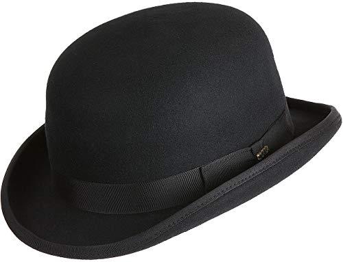 Raine Wool Bowler Hat Black (Bowler Hat For Women)
