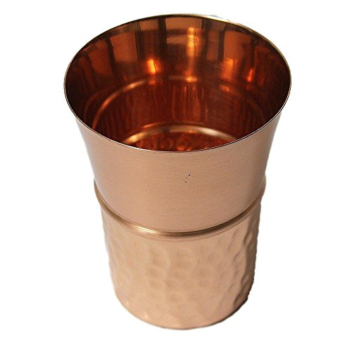 Premium Quality Half Hammered Tapered Copper Tumbler Mint Julep - 100% Pure Hammered Copper Tumbler for Moscow Mules by Alchemade
