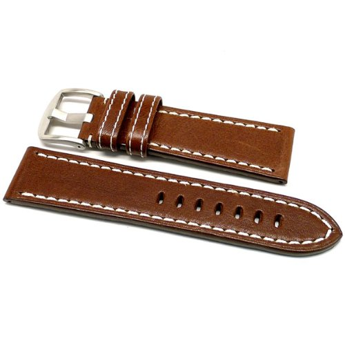 DaLuca OEM Style Leather Watch Strap - Brown : 20mm