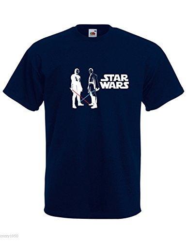 Kenobi T Avec amp; Star Anakin Décalque Sabre Wars Marine Bleu Gratuit shirt Modèle Obi Cadeau Découpé Laser Skywalker Wan Hommes 8Eqw8r