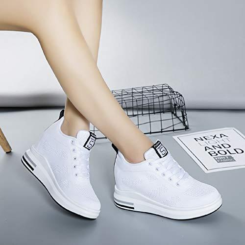 390e18a1a6e3 AONEGOLD® Femme Baskets Compensées Chaussure de Sport Marche Fitness  Sneakers Basses Compensées 8 cm  Amazon.fr  Chaussures et Sacs