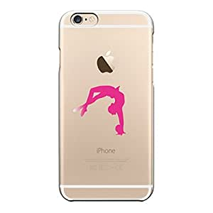 iPhone6 4.7inch case Transparent shell Sports Rhythmic Gymnastics Ball of Pink
