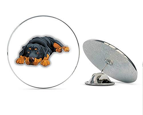 Cute Rottweiler Dog Round Metal 0.75