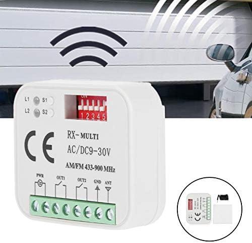 Duokon Receptor de Control Remoto para Puerta de Garaje de pl/ástico Universal SMG-662MRX BFT FAAC Sommer 300-900 MHz