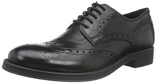Geox Uomo Blade D, Zapatos de Vestir para Hombre Schwarz (BLACKC9999)
