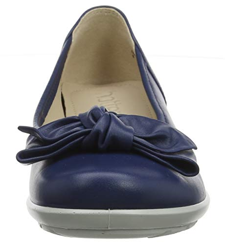 Donna Jewel Hotter royal Blue Punta Ballerine Chiusa 329 Blu 4gqrpgIx